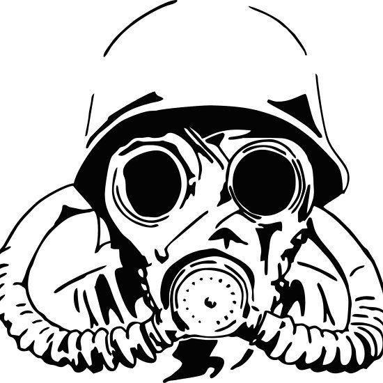 Gas Mask Drawing