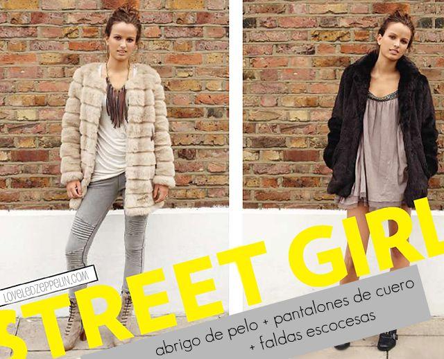 Street Girl: abrigos de pelo, pantalones de cuero y faldas escocesas