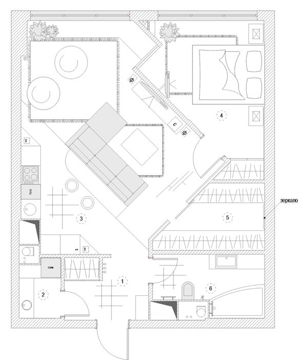 планировка квартир минимализм - Поиск в Google