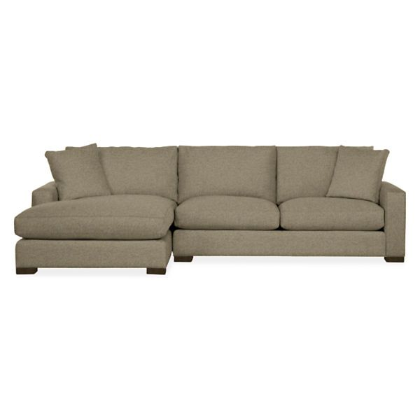 Room board metro 120quot sofa with left arm chaise for Metropolitan sectional sofa chaise