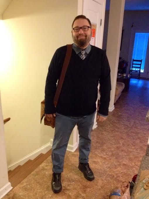 Adam sent us this pic featuring his #plussize style before heading off to work. Make his look your own: http://chubstr.com/2015/submission/photo-heading-off-to-work/