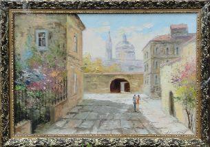 На улицах города - Городской пейзаж <- Картины маслом <- Картины - Каталог | Универсальный интернет-магазин подарков и сувениров