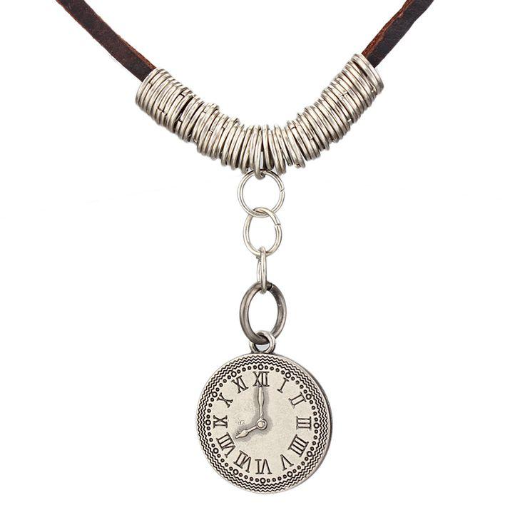 Лето стиль мужчины ювелирные изделия винтаж рок панк мода женщина ожерелья роман часы кулон колье мужчин ожерелье ожерельекупить в магазине Aaron JewelryнаAliExpress