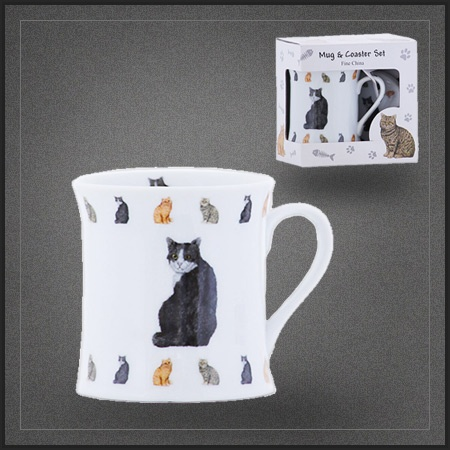 tasse th pas cher en porcelaine chat noir un tr s joli mug chat pour d guster caf th ou. Black Bedroom Furniture Sets. Home Design Ideas