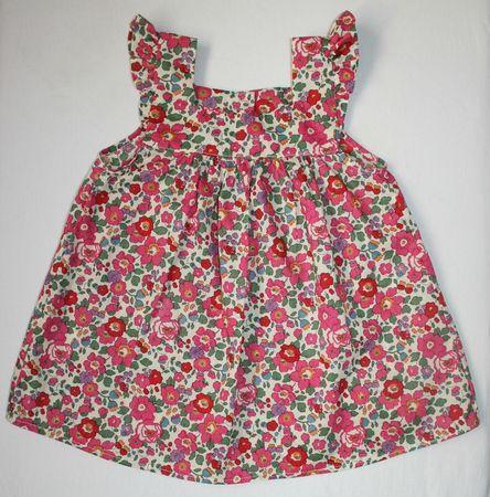 blouse encolure carrée - Liberty Betsy rose