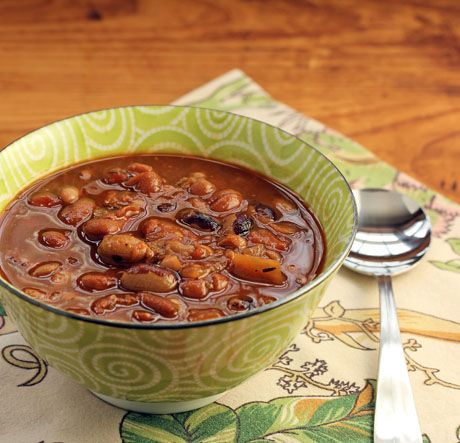 Dry beans (Recipe: everything-from-the-pantry bean soup) {vegetarian} {The Perfect Pantry}