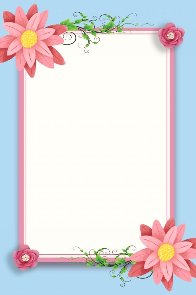 Flower Border Background Flower Border Frame Simple in