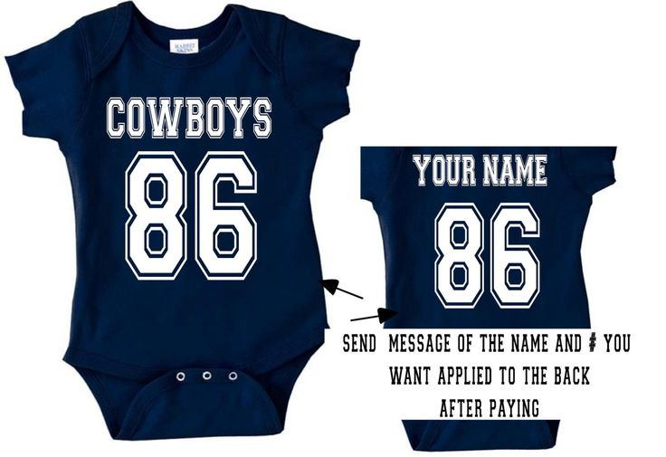 v cowboys baby jersey customized personalized by ...