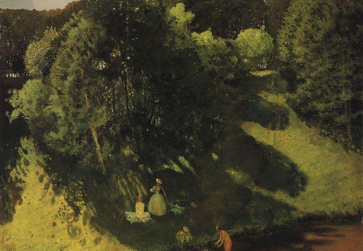 Baignades, 1899 de Konstantin Somov (1869-1939, Russia)