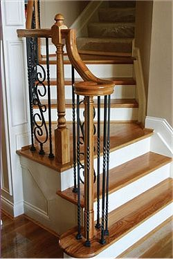 Wood Treads With Tile Risers Parts AccessoriesMetal