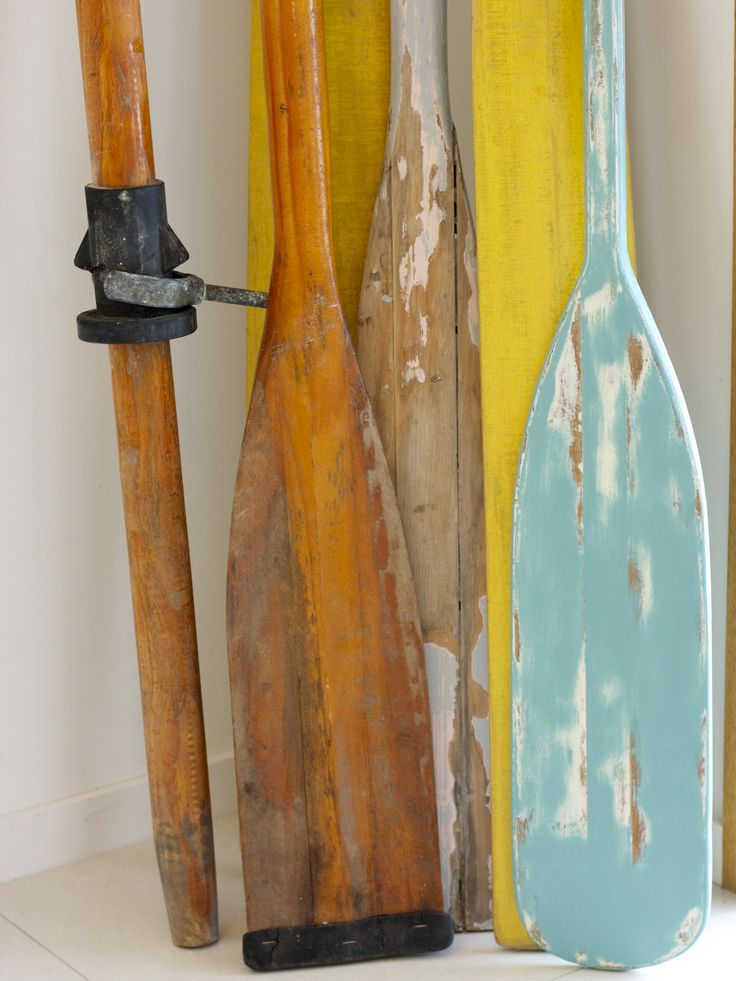 more oars in store ...lovely old rustic pair made in ...  Oar Paddle