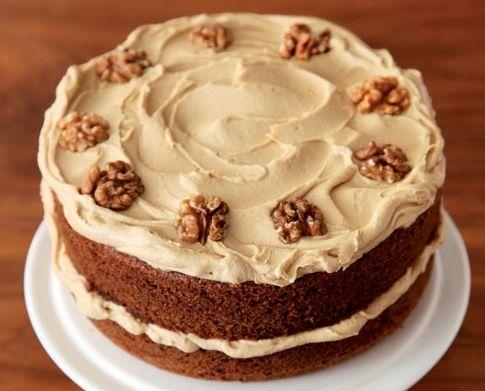Mmmm... Nigella coffee & walnut layer cake