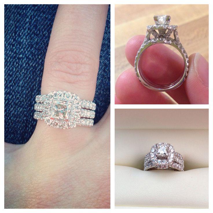 Neil Lane Ct White Gold  Ct Diamond Double Halo Ring