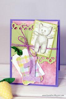 scrapbooking kartka z życzeniami na pierwsze urodziny dziecka