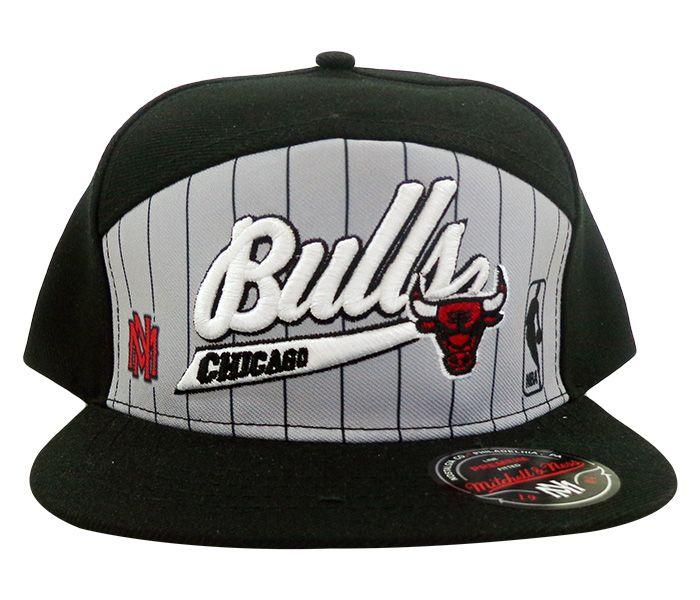 Boné Aba Reta Chicago Bulls Preto E Cinza R$ 69.9
