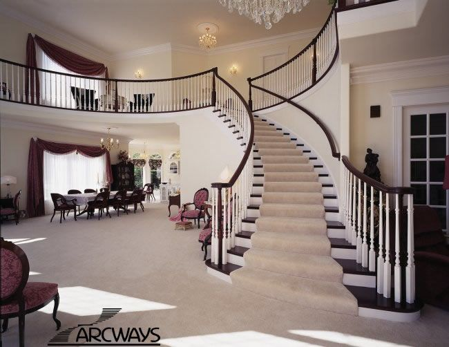 17 best images about staircases on pinterest preserve for Curved staircases