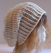I saw a woman on House Hunters with a hat that was knitted, but one I loved. I tried to figure out how to make it work in crochet. The finished product ended up looking very different than the hat that inspired it, but I love it for it's own unique style and personality.