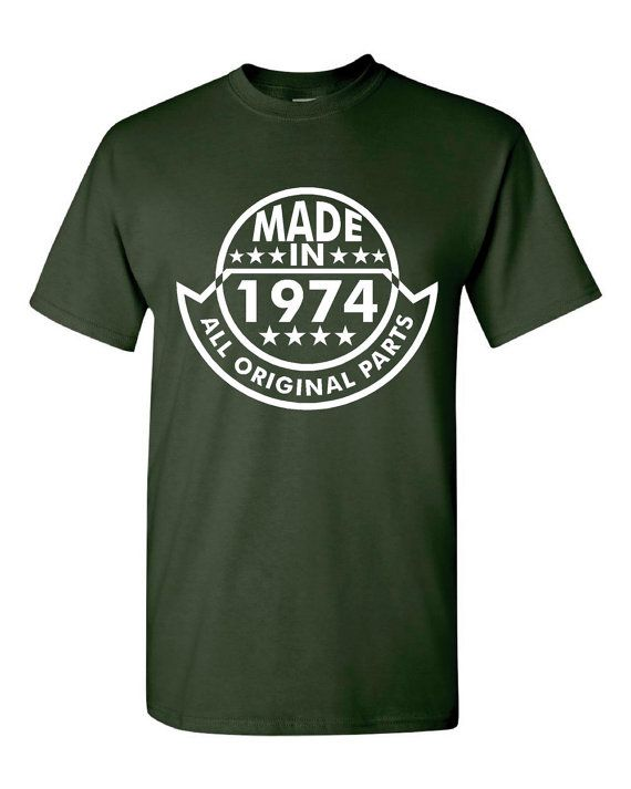 Made In 1974 All Original Parts 40th Birthday by PinkOwlTees, $15.95