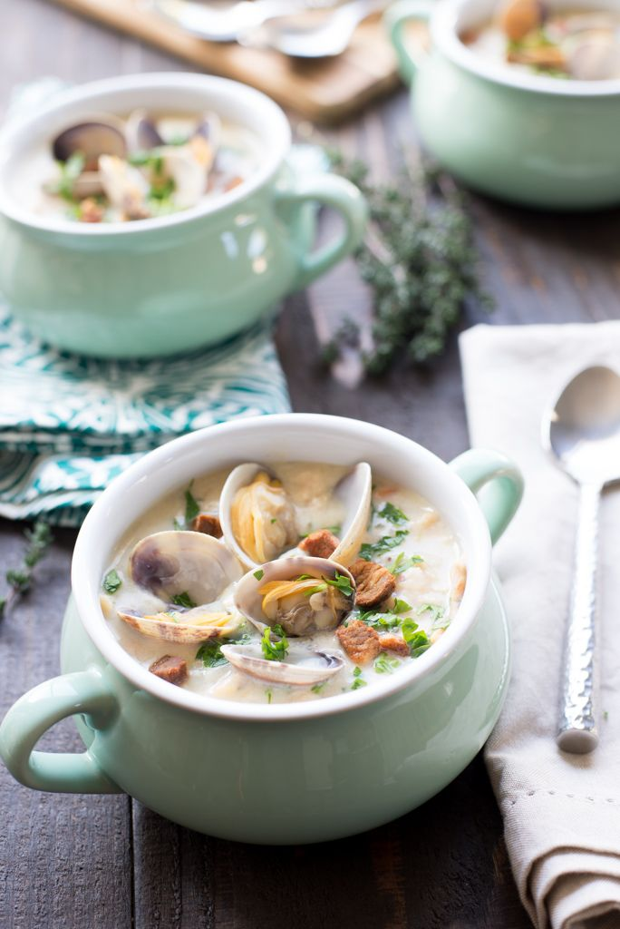 I am going to proudly say that this is, by far, hands down, the best ever New England Clam Chowder. Ever. I have been a lifelong New England clam chowder connoisseur. It is my jam. It is pure comfo...