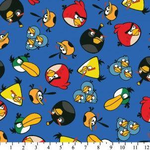 David Textiel - Blue Angry Birds Toss Flanel
