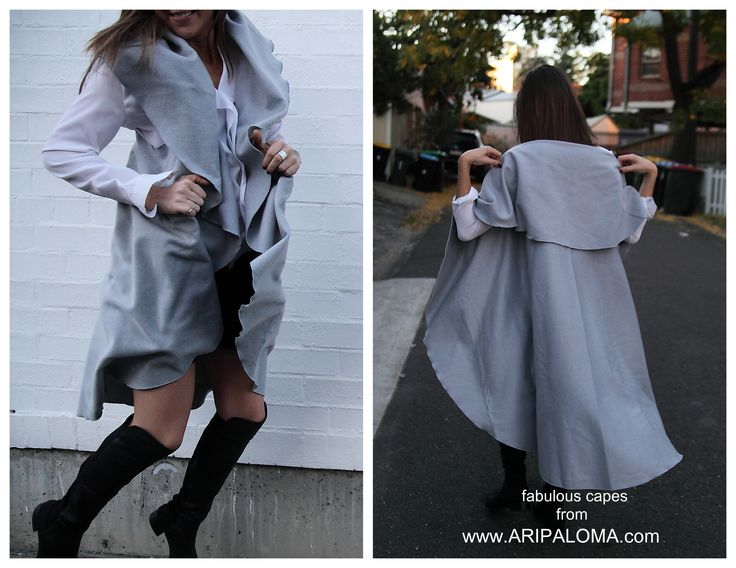 Envelope yourself with Flair. Lunar Eclipse cape from ARIPALOMA.com   #winterfashion #chic #fashion #fashioncapes #streetfashion @australianfashion #beststyle