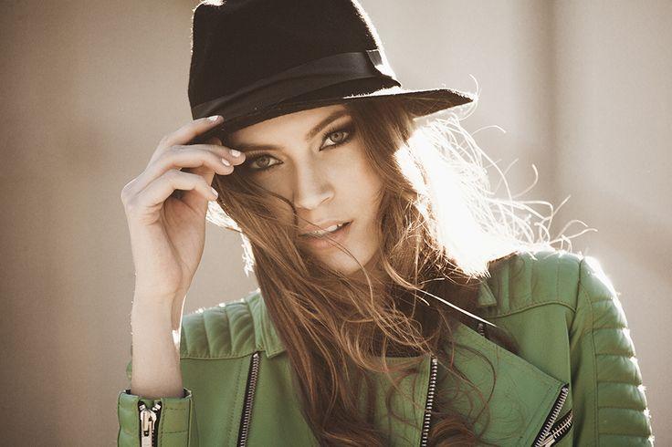 Must-have leather jacket #greenleather #leatherjacket #fashion #photoshoot #model