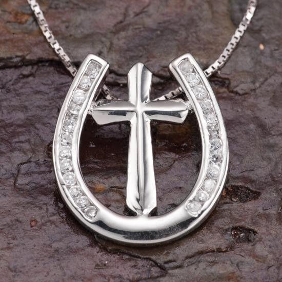 Horseshoe Cross Necklace By Kelly Herd
