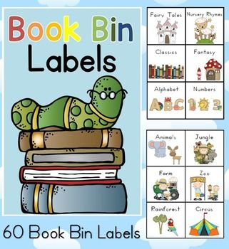 Book Bin Labels for the Classroom PDF fileBook bin labels for your classroom library.Organize your book shelf with these cute book bin labels, one blank label page, classroom library poster and library rules poster. * This file can now be found in our 10 x Classroom Set-up Organization Resources BUNDLE reduced to $12.75 for a short period.Updated November, 2015 to include smaller labels to adhere to books.