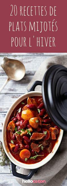 20 recettes réconfortantes de plats mijotés pour l'hiver : pot-au-feu, boeuf bourguignon... #recettes #hiver #plats #potaufeu #bourguignon #viandes #légumes