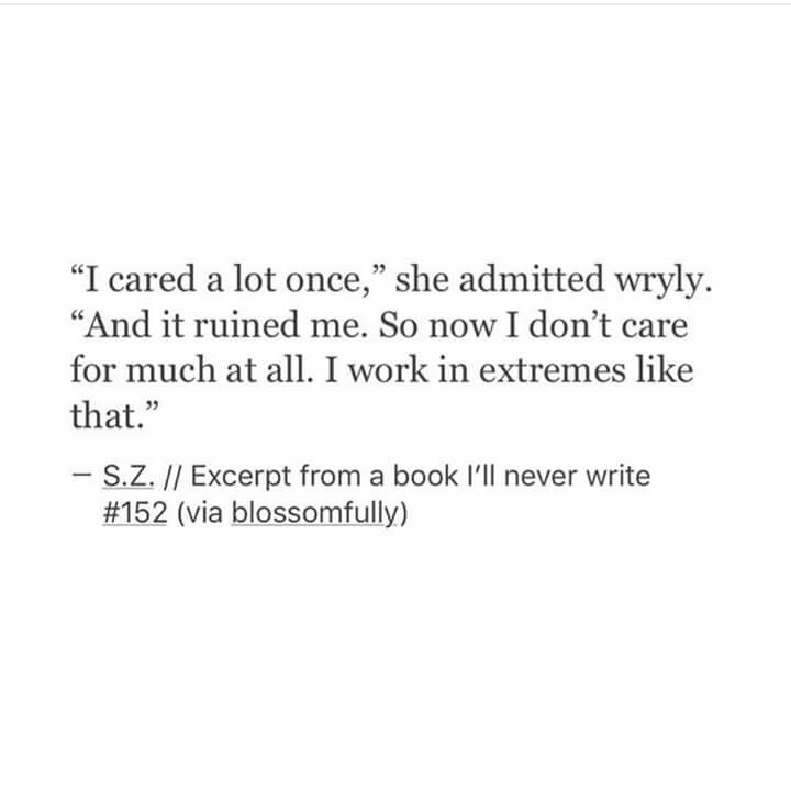 I Cared Once.