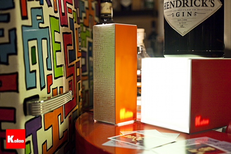 Koloo Cube & Tower lamps  Material: Red Acrylic - Orange Acrylic and New York Silver Glass    www.koloo.it