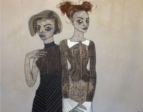 The Voyeurs, 2016 Acrylic on Board 24 1/5 × 31 1/10 in 61.5 × 79 cm