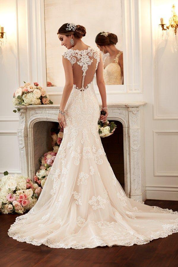 Low back wedding dress lace