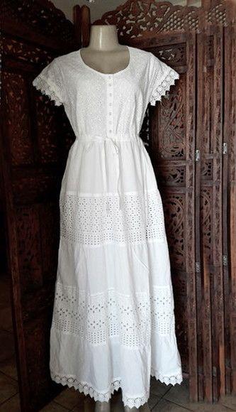 383690fbb246 vestido longo branco laise lese renda grupir tam EXG | Belíssima ...