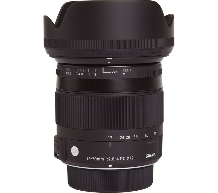 Buy SIGMA  17-70 mm f/2.8-4 DC HSM Macro Lens - for Sony Price: £319.00 Top features: - Ideal for macro photography with a minimum focusing distance of 22 cm - Range of special elements deliver impressive image quality - OS (Optical Stabiliser) compensates for camera shake - Large maximum aperture of f/2.8 Ideal for macro photography with a minimum focusing distance of 22 cmThe 17-70 mm...