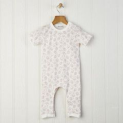 baby romper in woodland pink Now on sale from £20 to only £16 Team with our baby blankets, bibs, hats, leggings and long sleeved tops for a great matching outfit or gift #romper #babygrow
