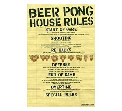 Beer Pong House Rules Poster