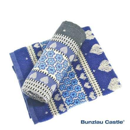Valentine Kitchen Towel Royal Blue