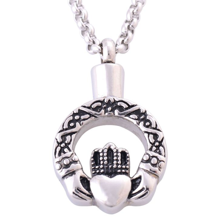 >> Click to Buy << New Fashion Stainless Steel Round Heart Claddagh Pendant Necklaces Cremation Jewelry Ash Urns Memorial Friendship Necklace IR206 #Affiliate