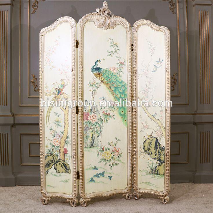 Elegant Artistic European Vintage Folding Screen,Noble ...
