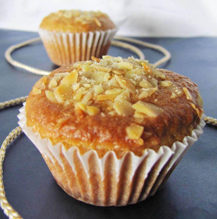 Muffins de limão e amêndoa