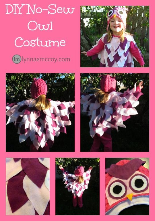 Whooo wants to be an owl for Halloween? You wouldn't believe how simple this cute costume is to make!