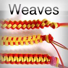 DIY Weaves: Cobra , Zipper, Butterfly - Boondoggle, Scoubidou, gimp, keychain, laneyard