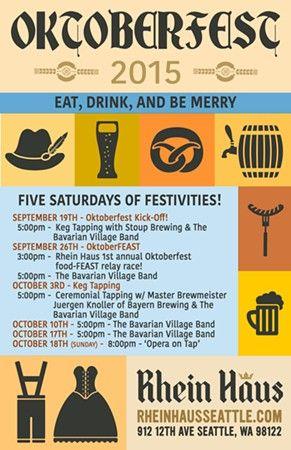 First Annual Underberg OktoberFEAST at Rhein Haus in Seattle, WA on Sat at 5 pm, Sun Oct 18. Through Oct 17. - Seattle Events Calendar - The Stranger
