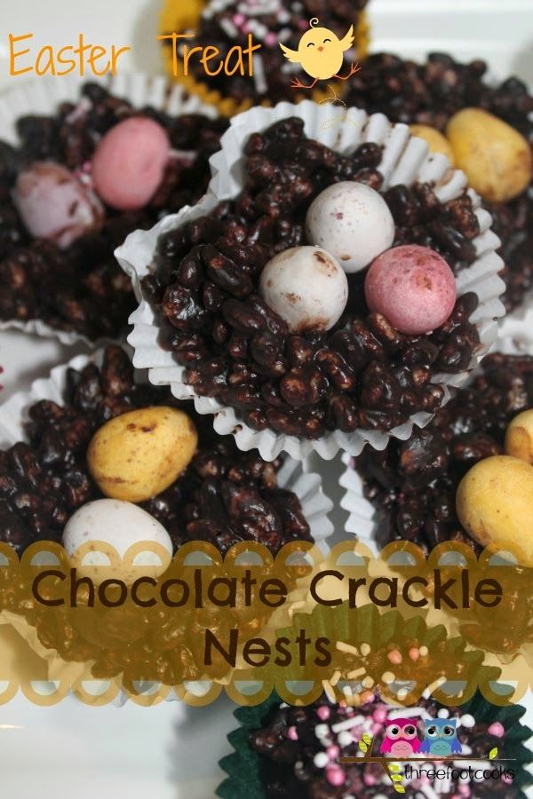 Chocolate Crackle Nests - a little bit healthy and lots of yum.