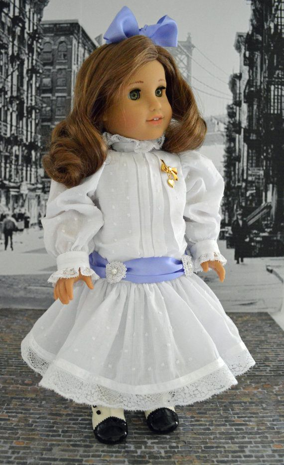Exquisite Delicate Victorian Dotted Swiss Dress for American Girl Doll  Rebecca, Samantha or Similar 18 Inch Doll
