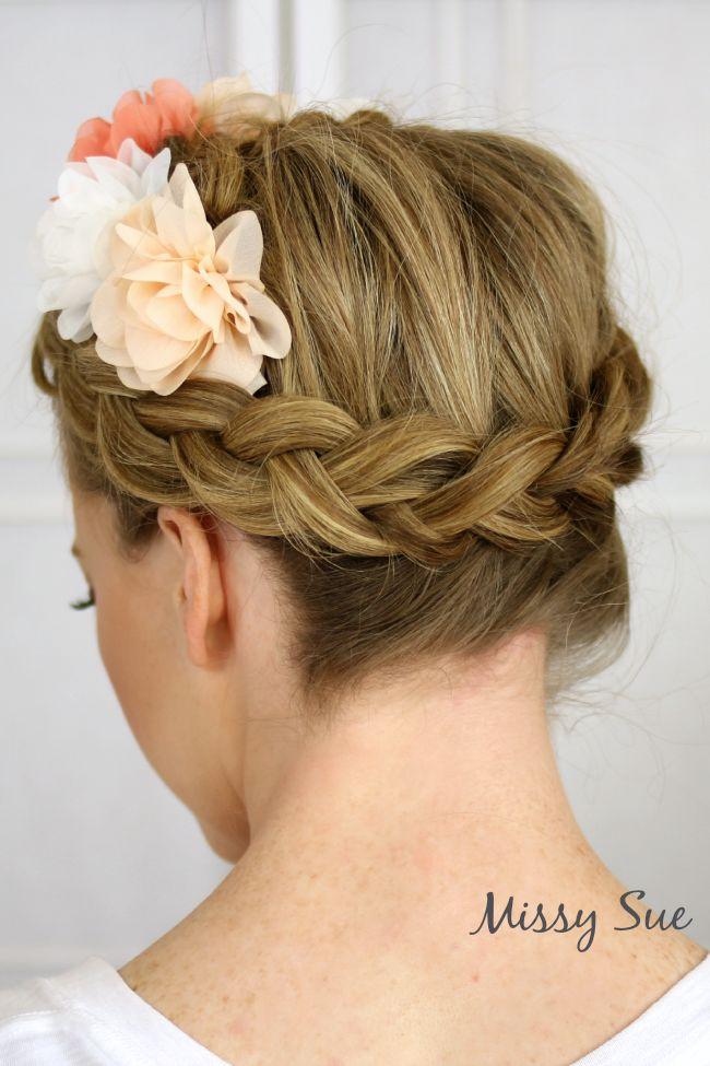 Flower Crown Dutch Braid   MissySue.com