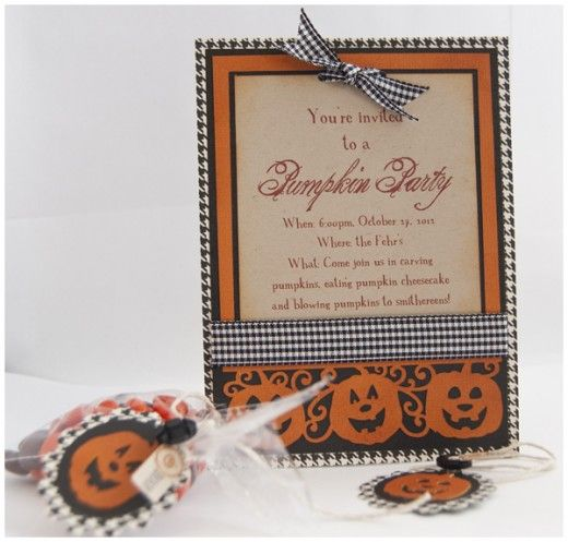 pumpkin party invite by Angela Fehr