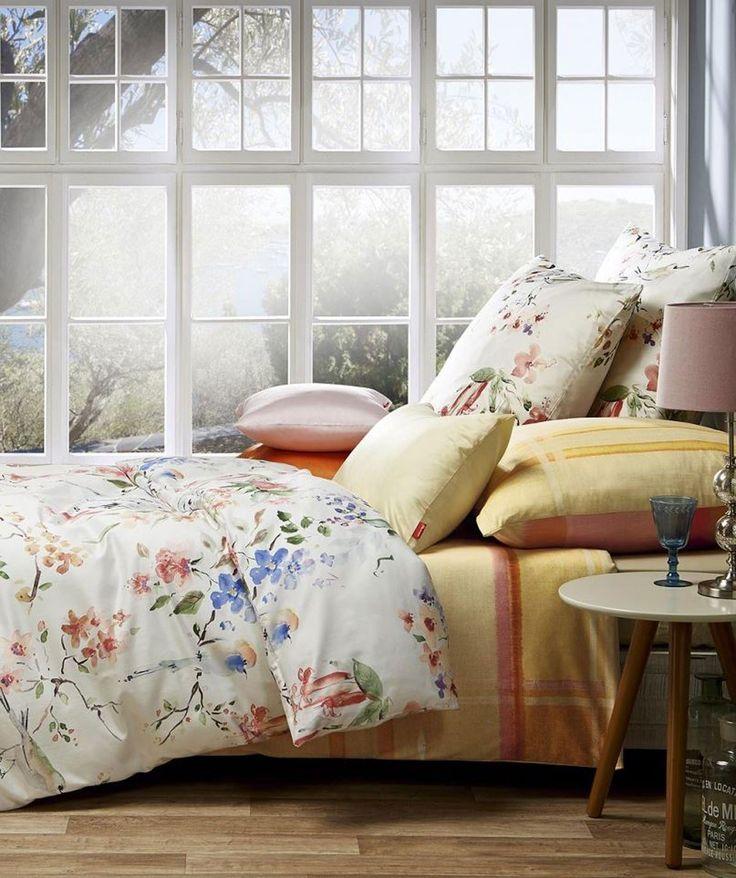 Romantische Blumenbettwäsche mit Vogel aus Mako Satin Mako-Satin Bettwäsche aus 100% Baumwolle, mercerisiert und supergekämmt, mit Reißverschluss. Hochwertige Qualität aus weichem, leicht seidig glänzendem Baumwollsatin, atmungsaktiv...