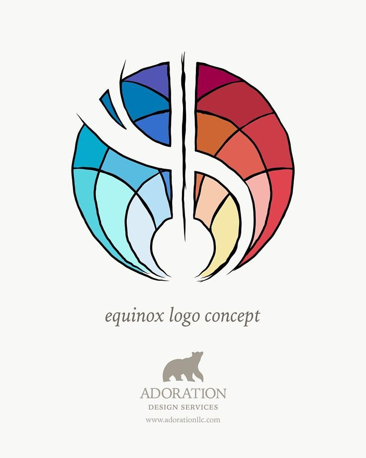 This equinox inspired logo came out of our work with Equinox Healing Arts, in Seattle. In the middle of the design process and excited to see where our collaboration will take us! (see more by Adoration Design Services at adorationllc.com) #logo #logodesinger #logoconcept #equinox #equinoxlogo #artdeco #stainedglass #sacredgeometry #adorationdesignservices